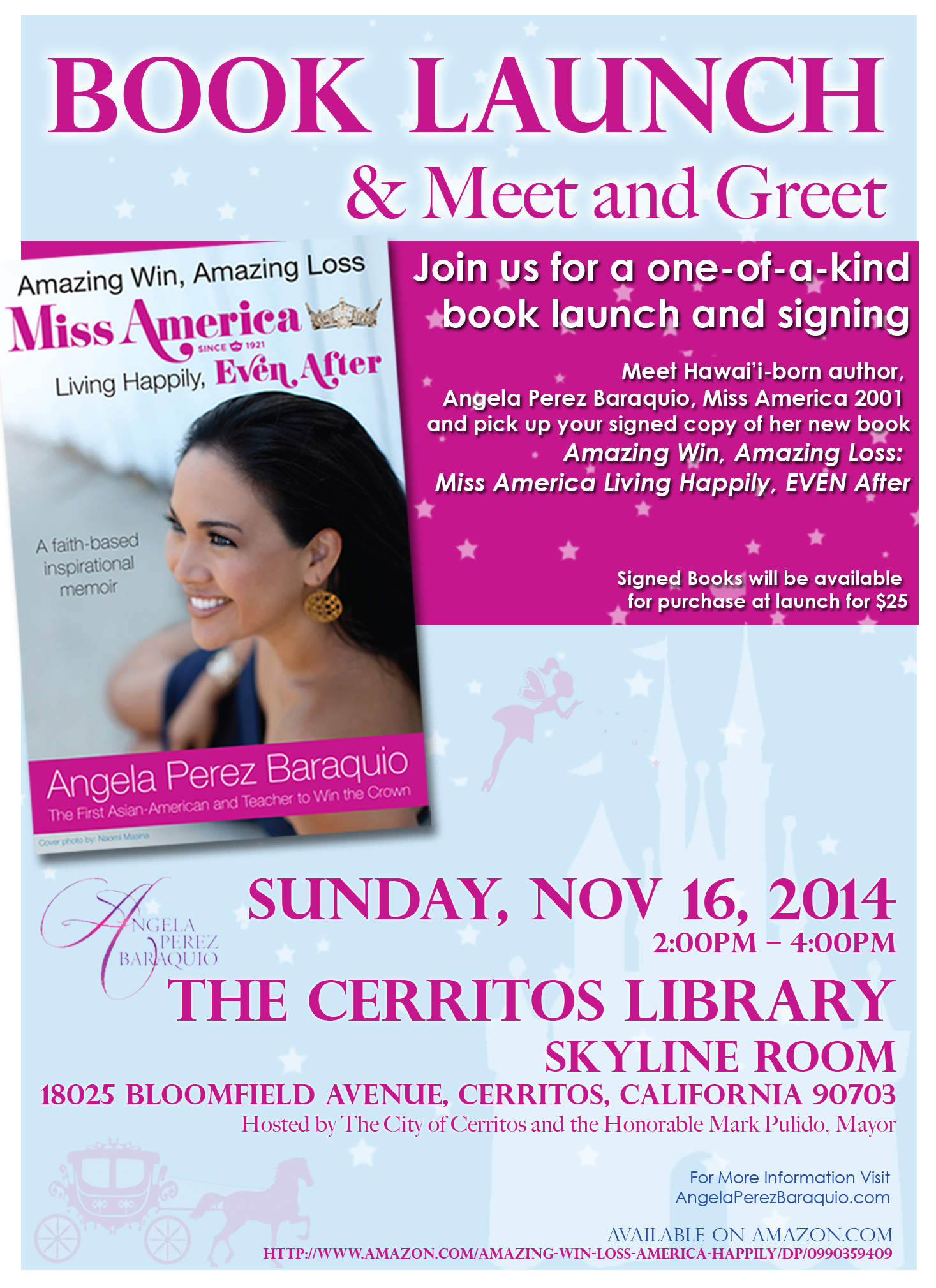 book signing poster template - angie book release flyer 2 2