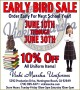 Uniform Sale – June 10th thru June 30th